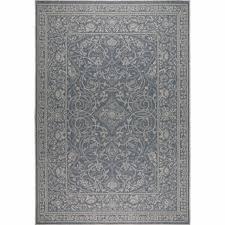 patio country blue gray indoor outdoor rug by nicole miller 5 2
