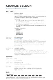 Research Officer Resume Samples Visualcv Resume Samples Database