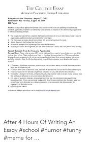College Prompt Essays The College Essay Advanced Placement English Literature