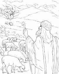 Burning Bush Moses Colouring Pages Free Printable Moses Coloring