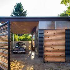 Check out these garage storage ideas and find out how how big your garage will need to be to fit everything in. 75 Beautiful Small Carport Pictures Ideas April 2021 Houzz