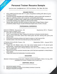 Personal Trainer Resume Examples Entry Level Successmaker Co