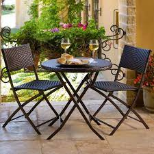 rated folding outdoor patio bistro sets
