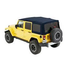 bestop soft top supertop nx navy blue twill 4 door jeep wrangler jk 2007