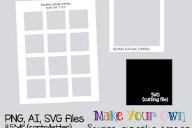 Template For Picture Collage Square Cupcake Topper Template Collage Sheet Template Digital Template Collage Template Printable Template Collage Digital Png Ai Svg
