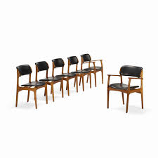 dining room table decorations inspirational 187 erik buck dining chairs model od 49 set six m