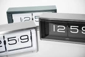 contemporary clocks analog desk stainless steel brick by erwin termaat leff amsterdam brick desk wall clock