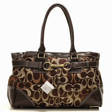 Coach Legacy In Signature Medium Coffee Satchels OA19