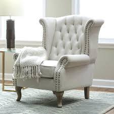 white tufted chair. Blue White Tufted Chair