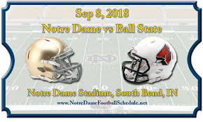 Notre Dame Fighting Irish Vs Ball State Cardinals Football