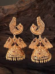 Gold Jhumka Designs For Bridal Gorgeous Peacock Gold Jhumkas Jeweller Design Get Inspired