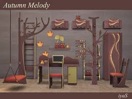 autumn melody on the sims resource sims 3 wall art with soloriya s autumn melody