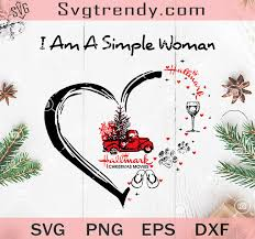Free my first christmas svg cut file that would make an adorable baby onesie for the newest addition to the family! I Am A Simple Woman Hallmark Christmas Movies Svg Hallmark Christmas Svg Original Svg Cut File Designs
