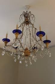 1930s italian glass chandelier