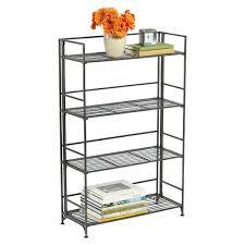 4-Shelf Iron Folding Bookcase