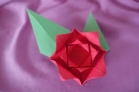 Paper Origami Flower Making Make An Easy Origami Rose