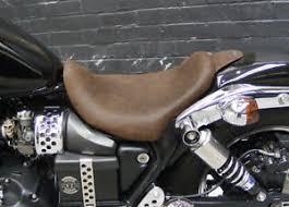 triumph speedmaster america low profile bobber seat brown leather