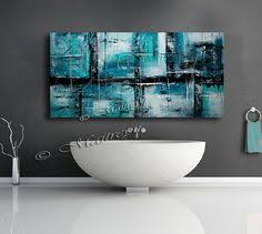 hand made large acrylic painting on canvas by largeartwork on etsy on large wall art teal with teal large abstract canvas wall art picture split 4 piece multi