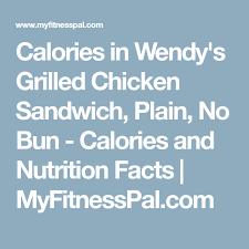 Calories In Wendys Grilled Chicken Sandwich Plain No Bun