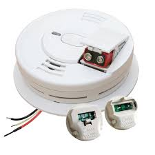 Kidde Hardwire Smoke Detector With 9v Battery Backup With Adapters Ionization Sensor And 1 Button Test Hush