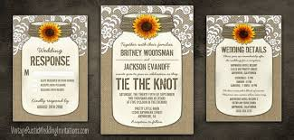 sunflower wedding invitations vintage rustic wedding invitations Cheap Wedding Invitations Burlap And Lace country burlap lace mason jar sunflower wedding invitations set cheap wedding invitations burlap and lace