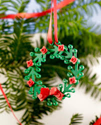 LEGO Wreath Ornament | Mini Wreath for Windows | Cool Christmas  Decorations | Nerdy Christmas