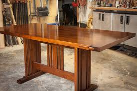 arts and crafts dining room table