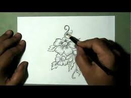how to draw a bunch of flowers yzarts