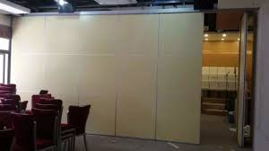china wooden portable movable partition walls folding room divider with aluminium track supplier