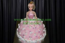 Send Barbie Doll Cake Pink To Gurugram Online Buy Barbie Doll Cake