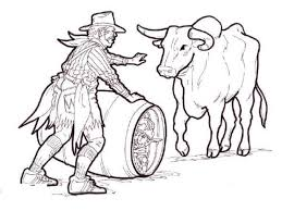 Small Picture rodeo clown with bull coloring picturejpg 720540 Color