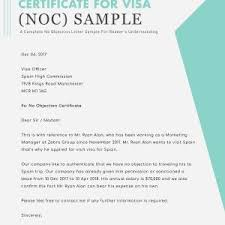 letter of non objection non objection letter format refrence noc letter format us visa new