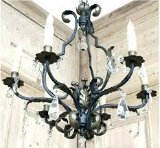 iron and crystal chandelier wrought iron crystal chandelier image of antique and black wrought iron and iron and crystal chandelier white wrought