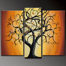 abstract paintings of trees decorative abstract tree oil painting modern hand oil painting hand painted wall art 3 piece