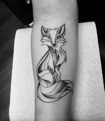 Natural Simple Fox Tattoo Design Fox Tattoos Fox Tattoo Design
