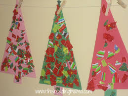 Paper Crafts For Christmas Torn Wrapping Paper Christmas Trees