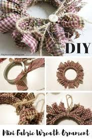 Best 25 Fabric Wreath Ideas On Pinterest  Fabric Wreath Tutorial Christmas Fabric Crafts To Make