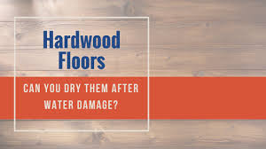 can i dry hardwood floor after water damage