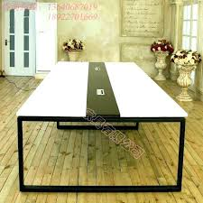Cool Long Office Table Pictures Large Size Of  Desks White Height
