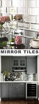 Mirror Tile Backsplash Kitchen 25 Best Ideas About Mirror Tiles On Pinterest Basement