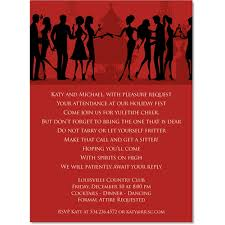 Formal Christmas Party Invitations Silhouette Christmas Party Bright Red Invitations By