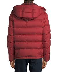 Burberry Hartley Hooded Quilted Jacket, Red & Hartley Hooded Quilted Jacket, Red Adamdwight.com
