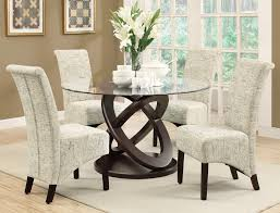 dining room table and fabric chairs. Monarch Specialties I 1749 Dark Espresso 48 Inch Dia Tempered Glass Dining Table Room And Fabric Chairs