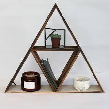 wooden geometric triangle shelf previous