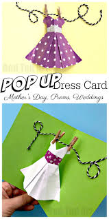 Pop Up Dress Card For Mothers Day Red Ted Arts Blog