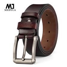 medyla cow genuine leather belts for men good quality male strap cowboy luxury merbund brand vintage fancy belt drop back belt buckle from