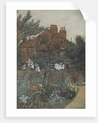 view of a garden in bedford park by f hamilton jackson