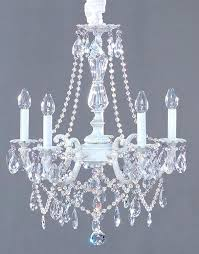 shabby chic chandelier white crystal candle mini shabby chic chandelier