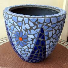 cool ideas to create small garden decoration with mosaic plant pot adorable home accessories for