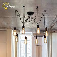 Edison lights pendant Vintage Image Unavailable Amazoncom Amazoncom 8head Edison Loft Nordic Spider Pendant Lamps